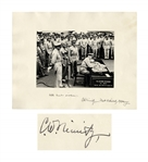 Admiral Chester Nimitz 14 x 11 Twice-Signed Photo of the Japanese Surrender -- Near Fine & Uninscribed