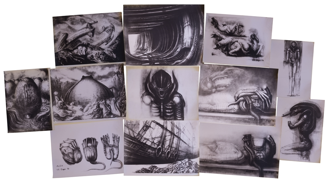 H.R. Giger ''Alien'' Artwork -- Set of 12 Photos With Several Unique Shots of the Alien Creature