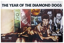 David Bowie Diamond Dogs Poster From 1974 With the Famous Peelaert Album Art