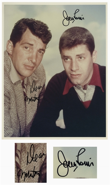 Dean Martin & Jerry Lewis 14'' x 11'' Signed Photo