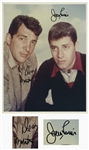 Dean Martin & Jerry Lewis 14 x 11 Signed Photo