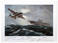 Doolittles Raiders Signed Limited Edition Artwork -- Signed by General James Doolittle & 27 of His Raiders