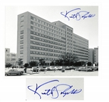 Dr. Kenneth Salyer 11 x 8.5 Signed Photo of Parkland Memorial Hospital in Dallas -- Where Dr. Salyer Attempted to Save President John F. Kennedys Life