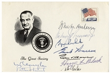The Earl Warren Supreme Court Signed Card -- Signed by All 9 Justices From the Mid 1960s