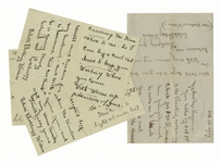 Edith Bolling Wilson Lot of 3 Autograph Letters Signed as First Lady Just After President Wilsons Stroke, as She Hid the Presidents Condition -- ...the doctors are keeping him so quiet...