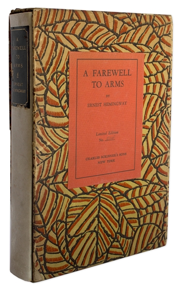 Three Stories Ten Poems Ernest Hemingway Signed First Limited Edition of ''A Farewell to Arms'' -- Scarce in Original Slipcase
