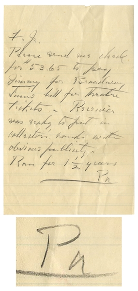 Franklin D. Roosevelt Autograph Note Signed ''FDR'' & Autograph Letter Signed to His Son