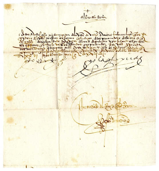 King Ferdinand and Queen Isabella Signed Royal Decree From 1498 as King & Queen of Spain -- Regarding an Official Involved in the Edict of Expulsion -- With COA From University Archives