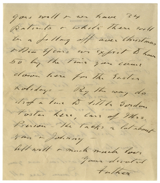 Franklin D. Roosevelt Autograph Letter Signed From Warm Springs & Signed Cover -- ''...we have 34 patients & while there will be a falling off over Christmas...we expect to heave 50...''