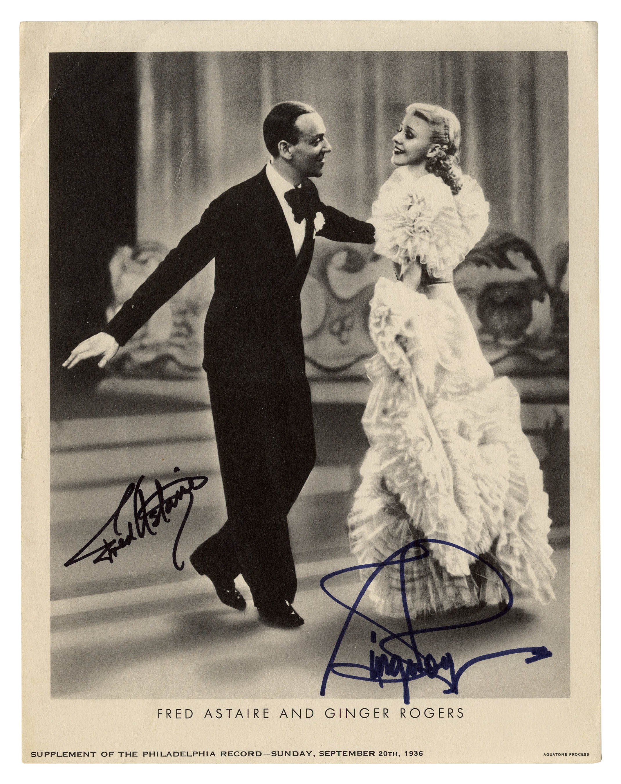Lot Detail - Fred Astaire & Ginger Rogers Dual-Signed Photo
