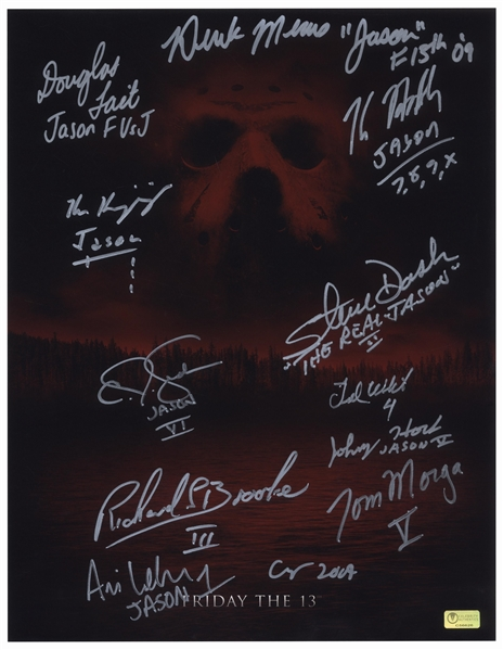 Friday the 13th Limited Edition Movie Poster Signed by All 12 ''Jasons''