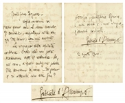 Gabriele DAnnunzio Autograph Letter Signed From 1900