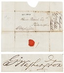 George Washington Free Franked Signature, with Envelope Addressed in Washingtons Hand