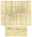 Grover Cleveland Consul Appointment Signed as President