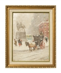 Guy Carleton Wiggins Painting of New York City in Winter