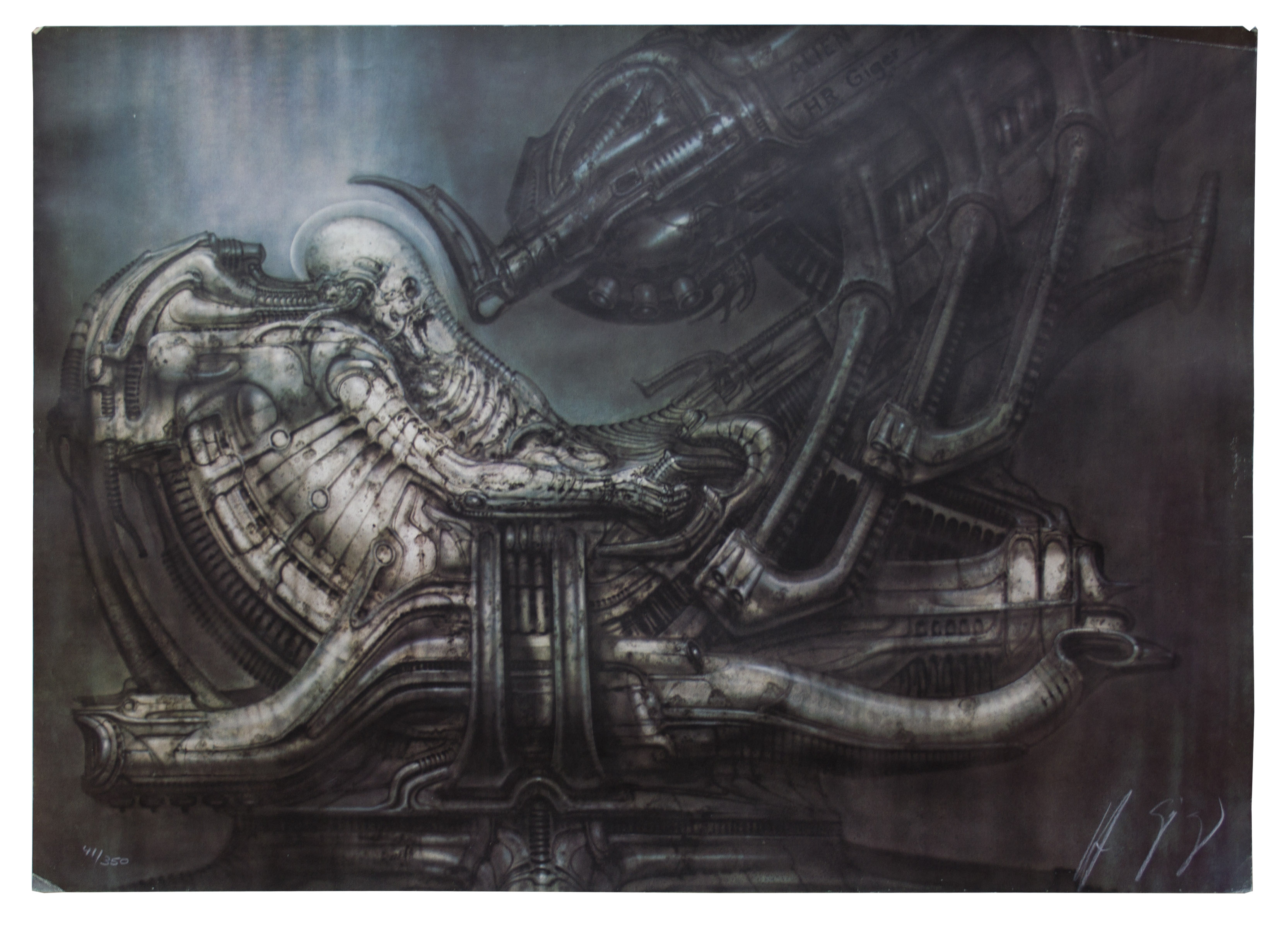 Lot Detail - H.R. Giger Signed Limited Edition Portfolio From ''Alien'' -- Six Prints