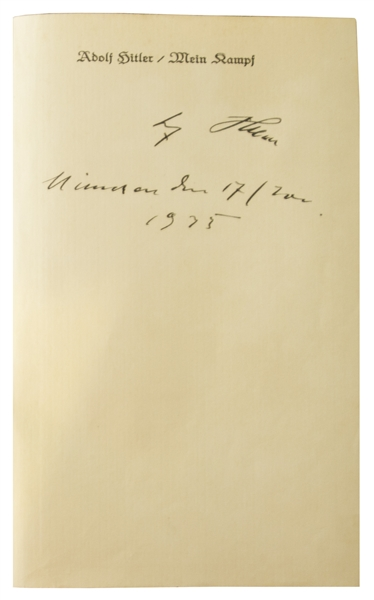 Adolf Hitler Signed Limited Edition of ''Mein Kampf'' -- Published in 1933 to Mark Hitler's Appointment as Chancellor of Germany -- With PSA/DNA Auction COA