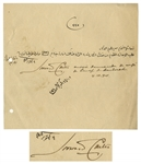 Howard Carter Document Signed From 1901, as Chief Inspector of the Egyptian Antiquities Service