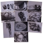 H.R. Giger Alien Artwork -- Set of 10 Photos of the Alien Creature, Space Jockey, the Derelict Spaceship