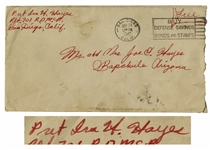 Ira Hayes WWII Envelope Signed From Training Camp in 1942