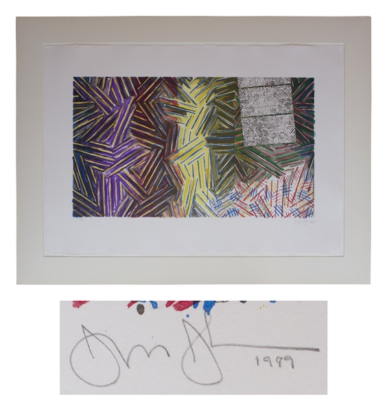 Jasper Johns ''Between the Clock and the Bed'' Lithograph