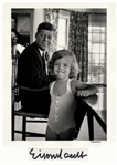 Alfred Eisenstaedt Signed 11 x 14 Photograph of John F. Kennedy & Daughter Caroline -- Taken During the Summer of 1960 When JFK Campaigned for President
