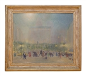 American Impressionist Johann Berthelsen Painting of New York City
