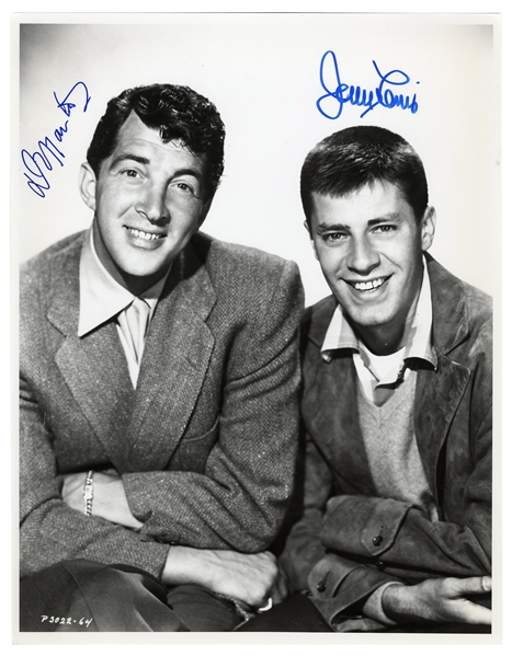 Dean Martin & Jerry Lewis 11'' x 14'' Signed Photo