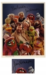 Jim Henson 10 x 8 Signed Photo Surrounded by His Muppets