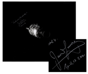 James Lovell Signed 20 x 16 Photo of Apollo 13s Damaged Service Module -- Lovell Adds, Houston, weve had a problem!