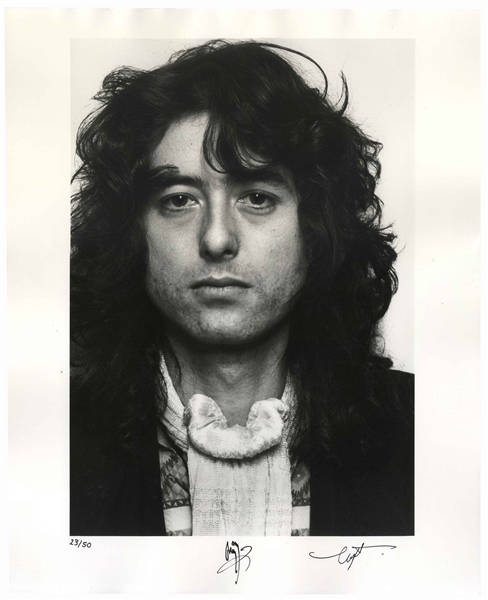 Jimmy Page Signed 16'' x 20'' Photo -- One of Only 50 Signed by Page in a Limited Edition