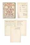 John F. Kennedy Signed Book as President -- JFK Inscribes To Turn the Tide to Photographer Alfred Eisenstaedt ...who helped turn an earlier tide... -- With Slide Photo of JFK Signing