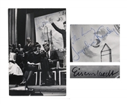 John F. Kennedy & Jackie Kennedy Signed Photo Measuring 9 x 13.25 -- Also Signed by Photographer, Alfred Eisenstaedt