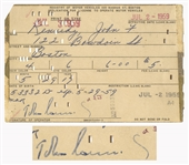 John F. Kennedy Signed Drivers License Application