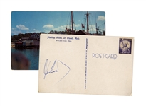 John F. Kennedy Signed Postcard From Cape Cod -- With JSA COA