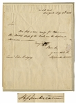 Naval Hero Stephen Decatur Autograph Letter Signed, Writing to John Rodgers in 1811 -- ...This Ship is now ready for sea...