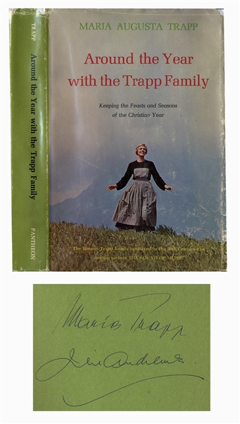 Julie Andrews Autograph Julie Andrews & Maria von Trapp Signed Book -- Featuring Andrews From ''The Sound of Music'' on the Cover -- With PSA/DNA COA