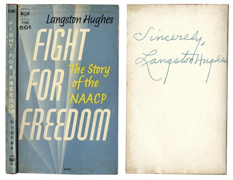 Langston Hughes Signed Copy of ''Fight for Freedom: The Story of the NAACP''