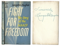 Langston Hughes Signed Copy of Fight for Freedom: The Story of the NAACP