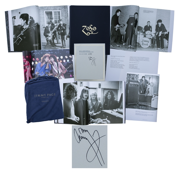 Jimmy Page Signed Limited Edition of ''ZoSo'', His Photographic Autobiography -- The Collector Edition