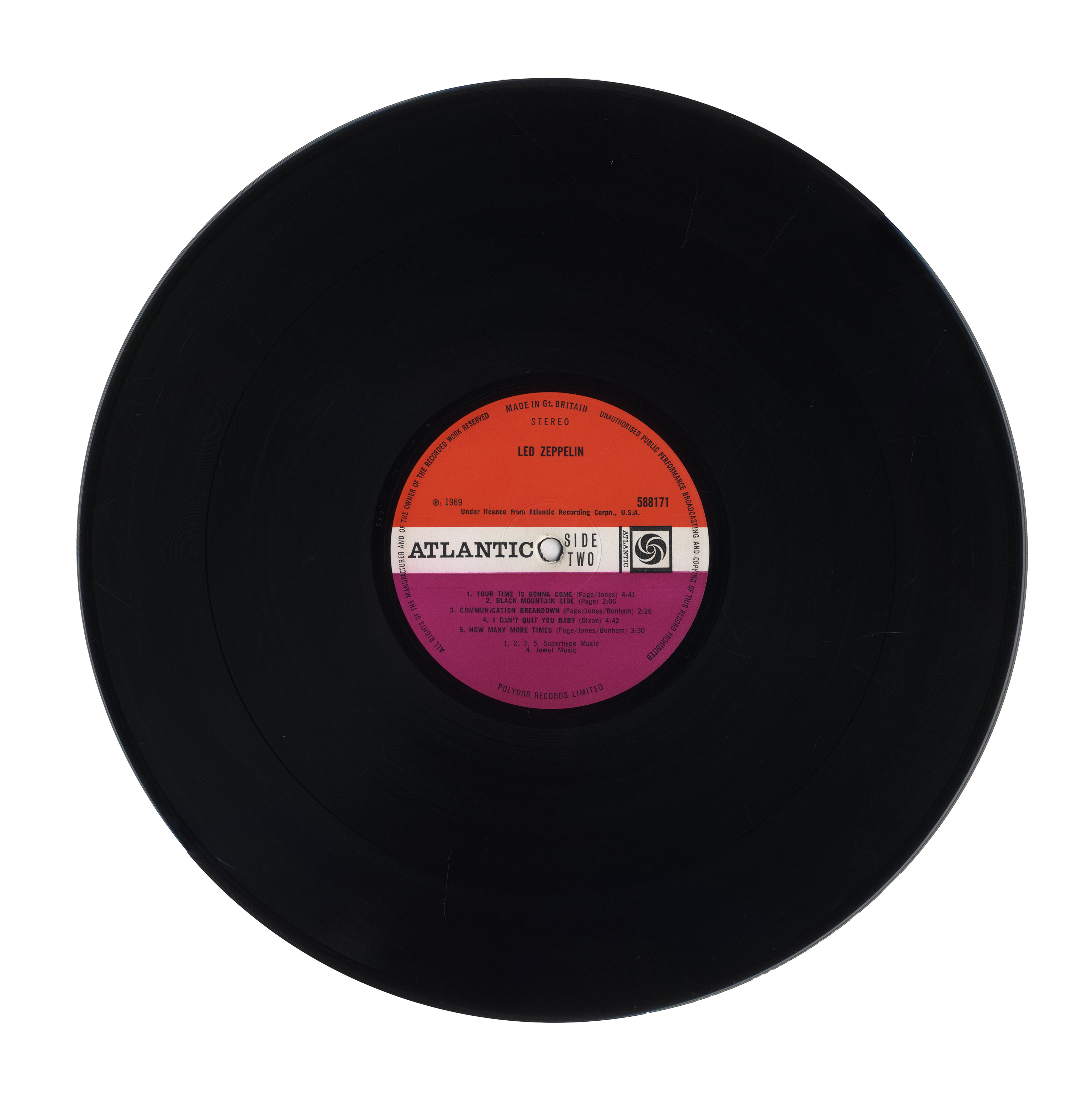 Lot Detail Led Zeppelin First Pressing Of Their Debut