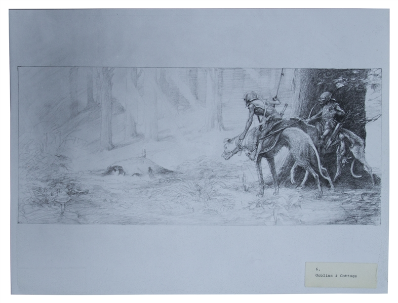 Concept Artwork From the Ridley Scott Film ''Legend'' Starring Tom Cruise -- 19 Photographs Measuring 16'' x 12''.