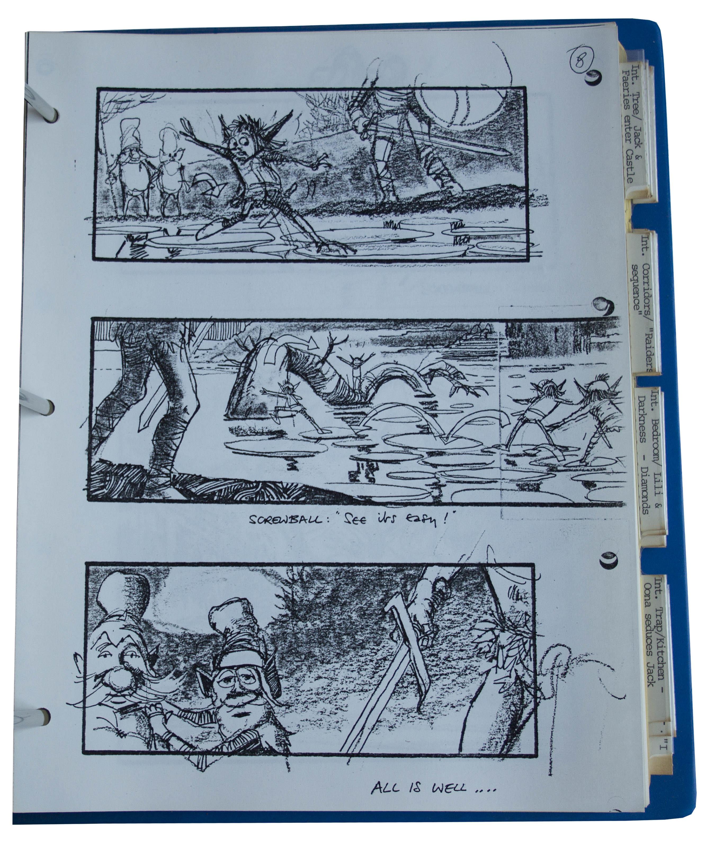 ... Storyboards For The Ridley Scott Directed Film U0027u0027Legendu0027u0027, Starring Tom  Cruise ...