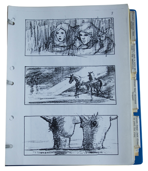 Storyboards for the Ridley Scott Directed Film ''Legend'', Starring Tom Cruise