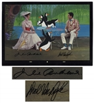 Julie Andrews & Dick Van Dyke Signed Limited Edition Mary Poppins Artwork by Disney -- Created From Original Disney Animation Drawings