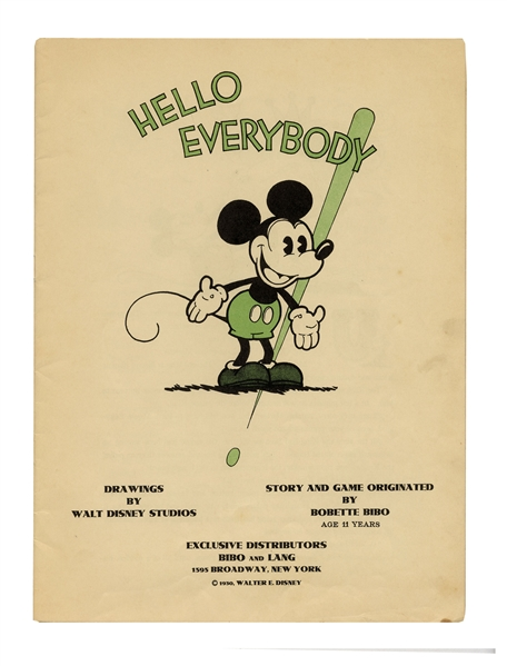 Premiere Issue of the ''Mickey Mouse Book'' in 1930