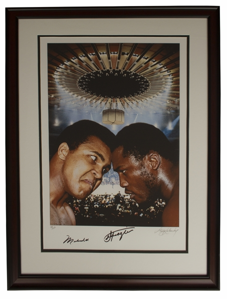 Muhammad Ali & Joe Frazier Dual-Signed Large 22.5'' x 30.5'' Photo of the ''Fight of the Century'' -- Limited Edition With Steiner COA