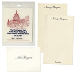Nancy Reagans Pass to Princess Diana & Prince Charles Wedding