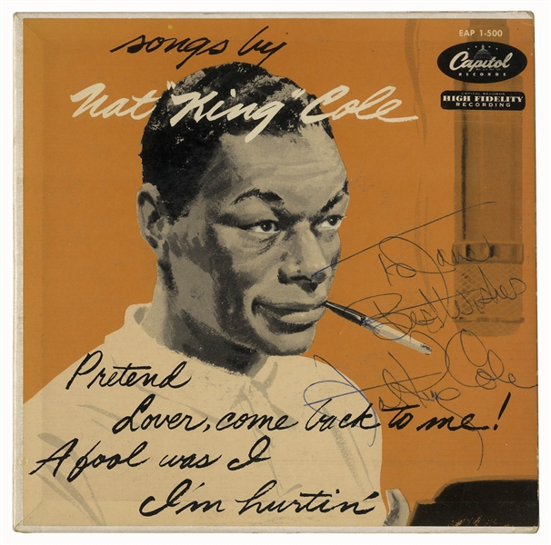 Nat King Cole Signed Album, ''Songs by Nat 'King' Cole''