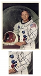 Neil Armstrong Signed 8 x 10 Apollo 11 White Space Suit Photo